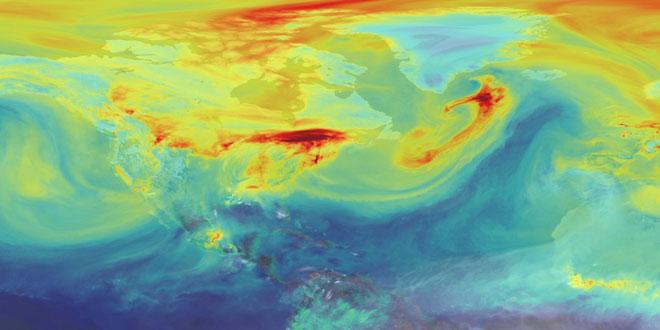 Η διαδρομή του διοξειδίου του άνθρακα στην ατμόσφαιρα της Γης