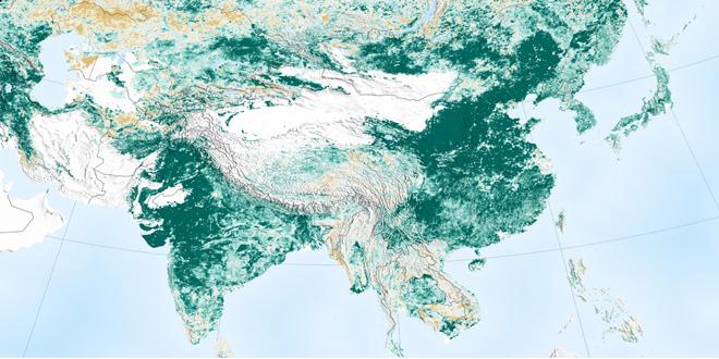 """Δενδροφυτεύσεις σε Κίνα και εντατική γεωργία σε Ινδία """"πρασινίζουν"""" τη γη"""