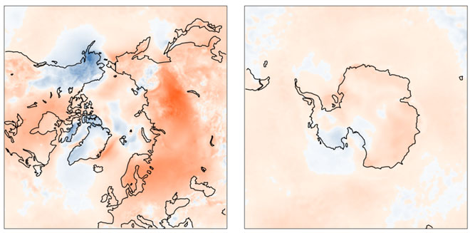 Έως και 6 βαθμούς υψηλότερη η θερμοκρασία της ατμόσφαιρας